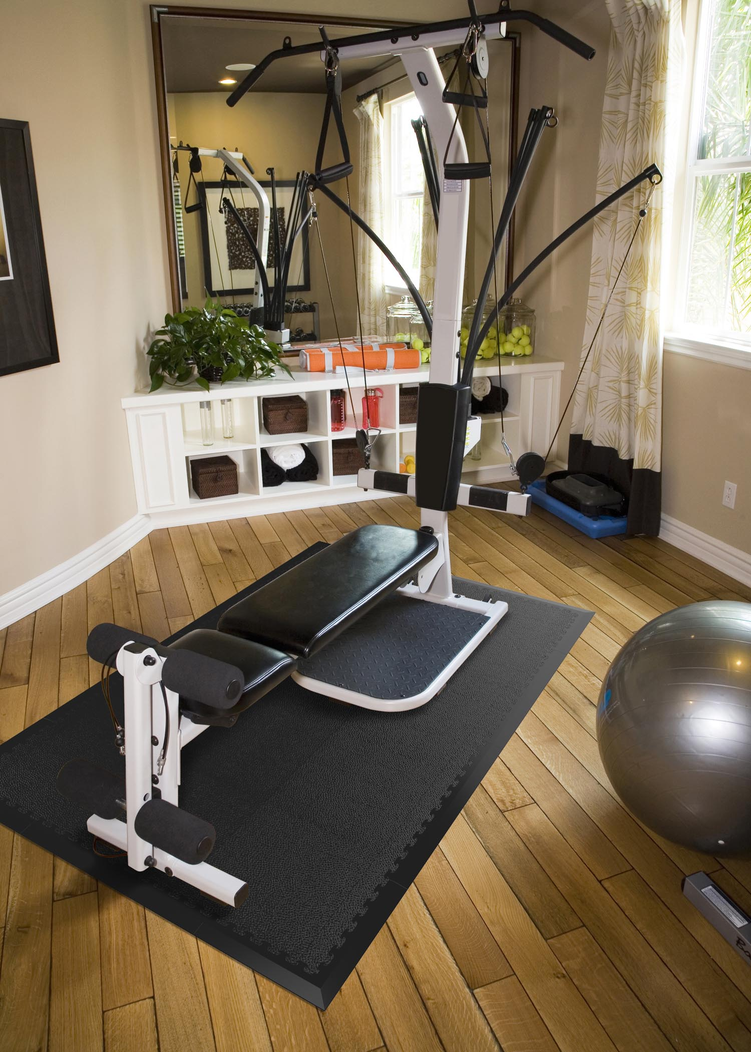 Diy gym flooring for your toughest workouts norsk blog for Small room flooring ideas